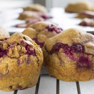 Healthy Raspberry Pumpkin Muffin – These low-carb, low-fat muffins are perfect when you want a healthy and delicious snack (diabetes friendly, sugar-free, paleo, clean eating, gluten free)