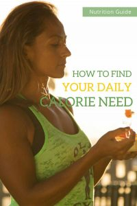 How to find your daily calorie need