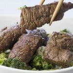 Marinated Steak and Broccoli