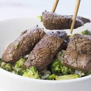 Marinated Steak and Broccoli