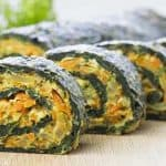 Healthy spinach rolls