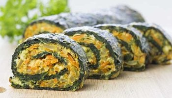 Healthy spinach rolls