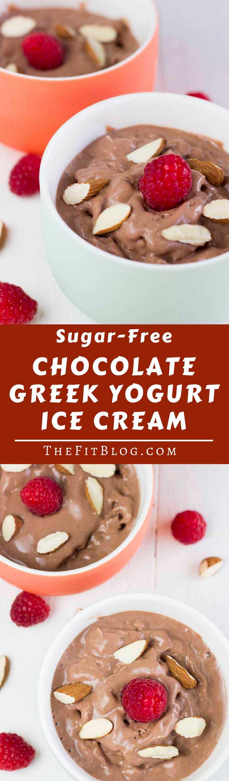 Sugar-Free Chocolate Greek Yogurt Ice Cream | TheFitBlog