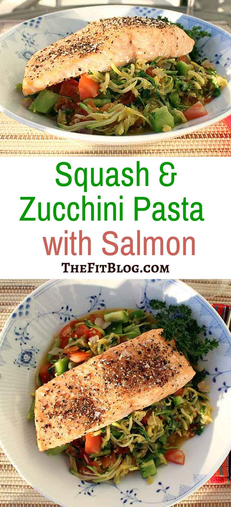 If you are just HUNGRY, Salmon with Squash and Zucchini Pasta really hits the spot. It's full of good, nutrient-rich veggies and provides plenty of protein and Omega 3 fatty acids. You can cook it in less than 20 min, it's super healthy, and it will also keep you full for hours.