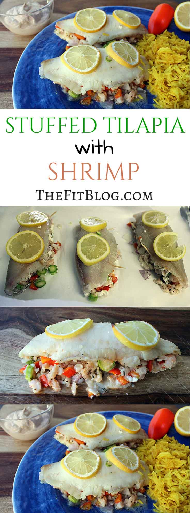 This tilapia stuffed with shrimp is definitely something I will make again, even for guests. It was super easy to make but looked like something you would get in a Mediterranean restaurant.