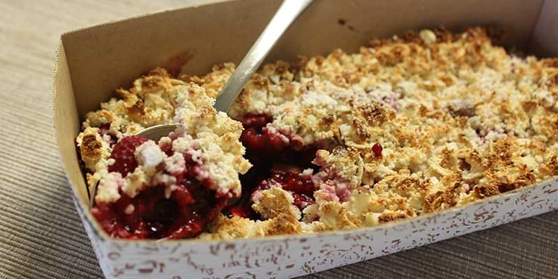 High Protein Berry Crumble