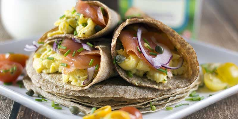 Breakfast Crepes With Smoked Salmon - This is something we make quite often because it taste amazing and is a super healthy start to an active day. It's also really easy and quick to make.