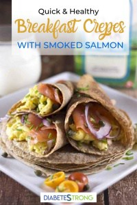Breakfast crepes with smoked salmon
