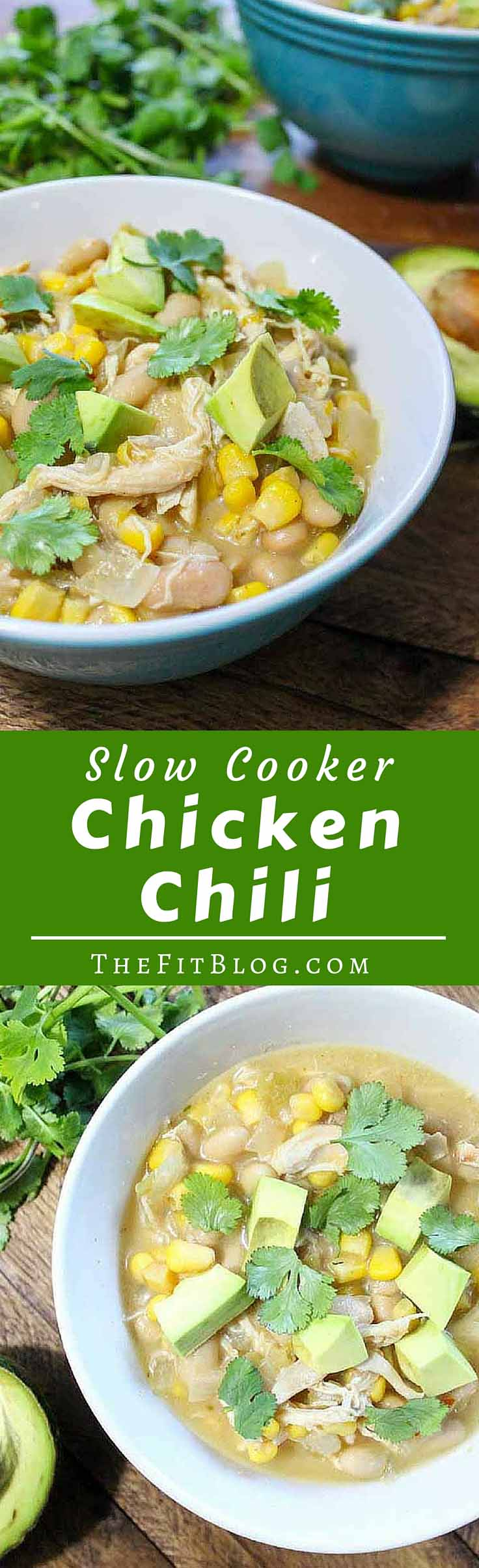 Slow Cooker White Chicken Chili - The day we made this chili was the best day of the week. It's hearty, zippy and feel-good, but healthy at the same time. And it's bursting at the seams with comforting flavor.