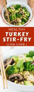 Healthy turkey stir-fry