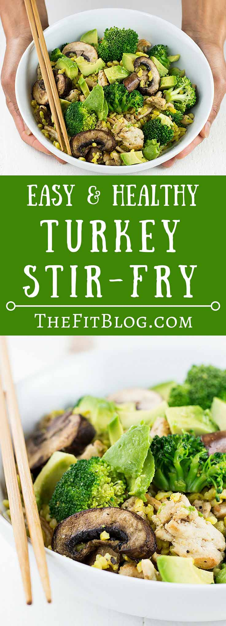 This Healthy Turkey Stir-Fry has the perfect mix of protein, good carbs, and healthy fats for a balanced meal. It also tastes amazing and can be ready in less than 10 min.