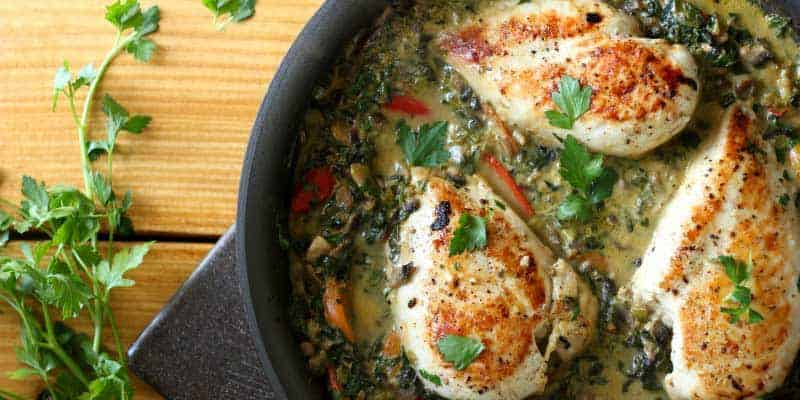 Smothered creamy skillet chicken diabetes strong forumfinder