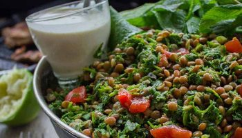 Lentil Tabbouleh with Grilled Chicken