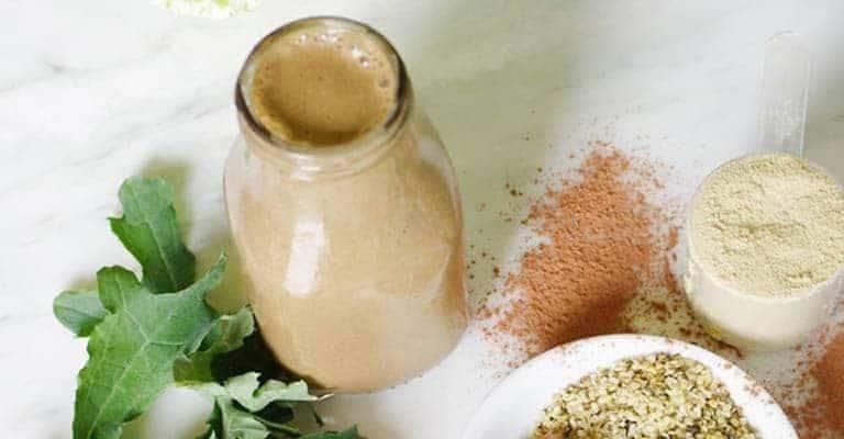 Vegan Peanut Butter Protein Smoothie
