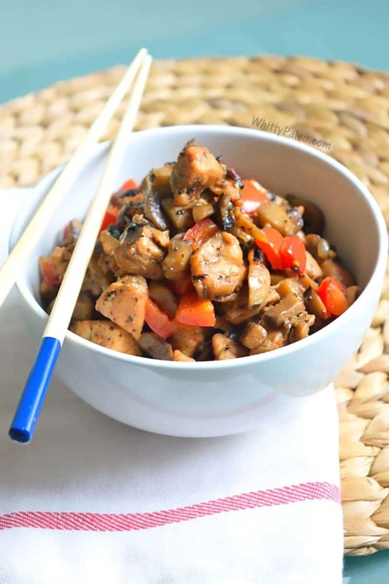 Chicken Mushroom Pepper Stir Fry