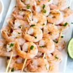 Grilled Shrimp Skewers with Chili Sauce