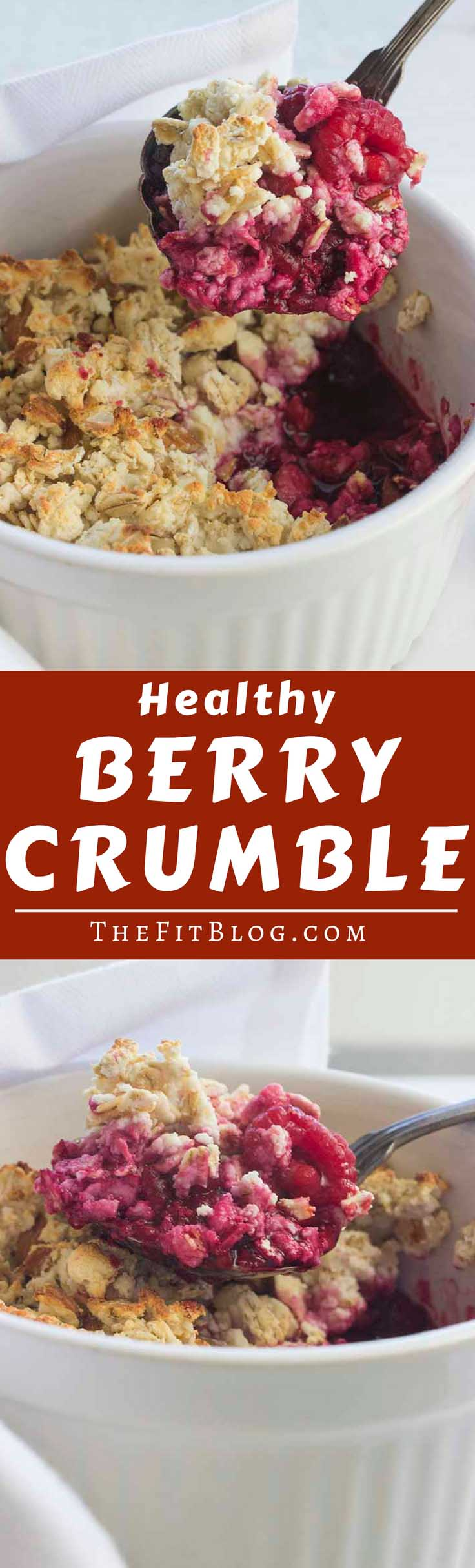 Who says you can't have cake for breakfast? This berry crumble looks and tastes like cake but it actually has the perfect macronutrients for a healthy breakfast or snack  | high protein | low carb | sugar free | gluten free | diabetes friendly |
