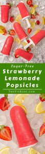 Sugar Free Strawberry Lemonade Popsicles – Nothing is better at fighting the summer heat than these deliciously cool, sugar free, low-carb, healthy popsicles
