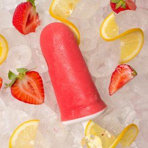 Sugar Free Strawberry Lemonade Popsicles