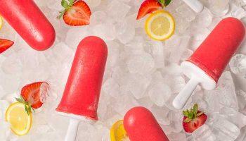 Strawberry Lemonade Popsicles (No Sugar Added)