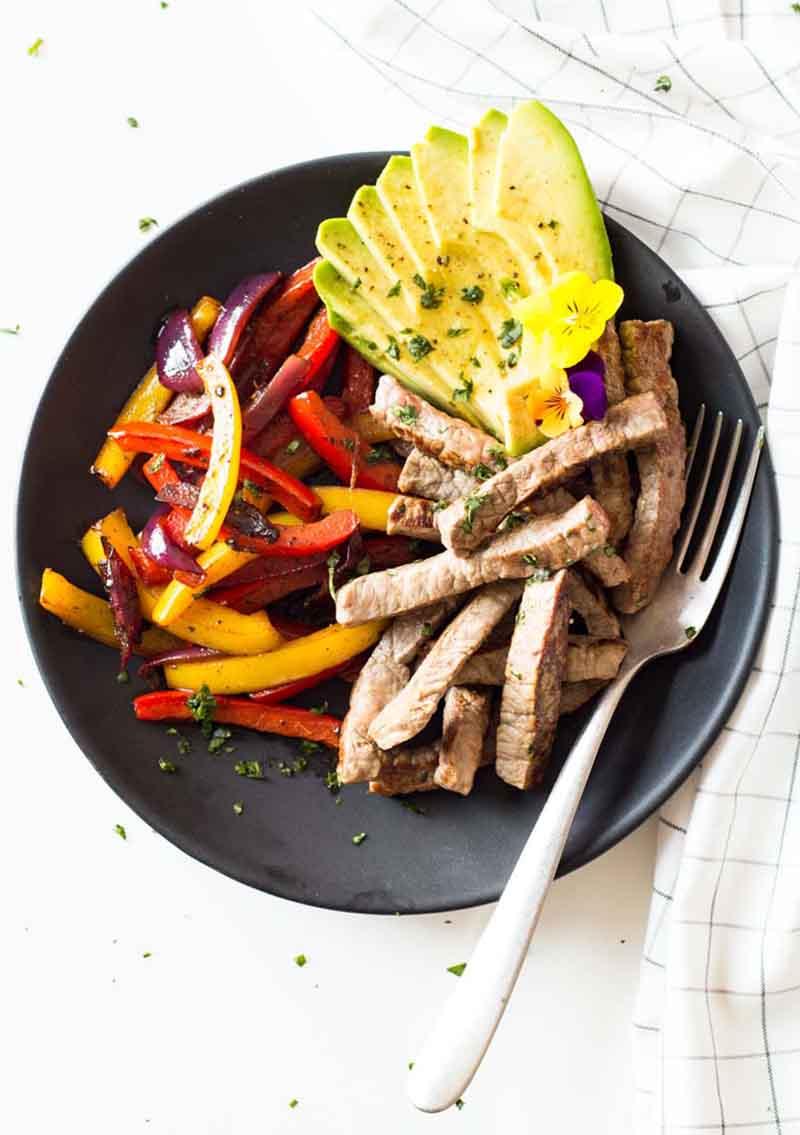 Healthy Beef Fajitas