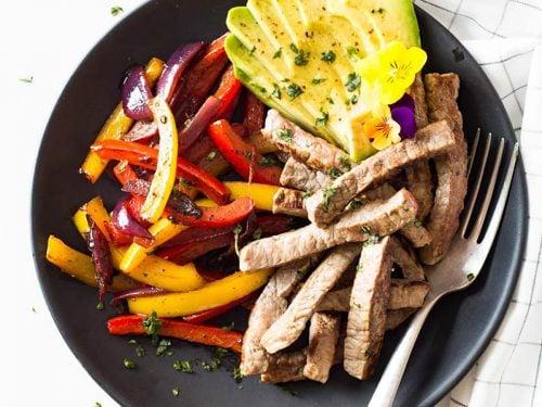 Healthy & Easy Beef Fajitas