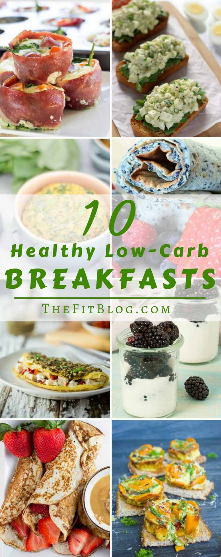10 Healthy Low-Carb Breakfast Recipes – Our favorite delicious and diabetic friendly breakfast. Pancakes, omelettes, toast, eggs and bacon. It's all here!