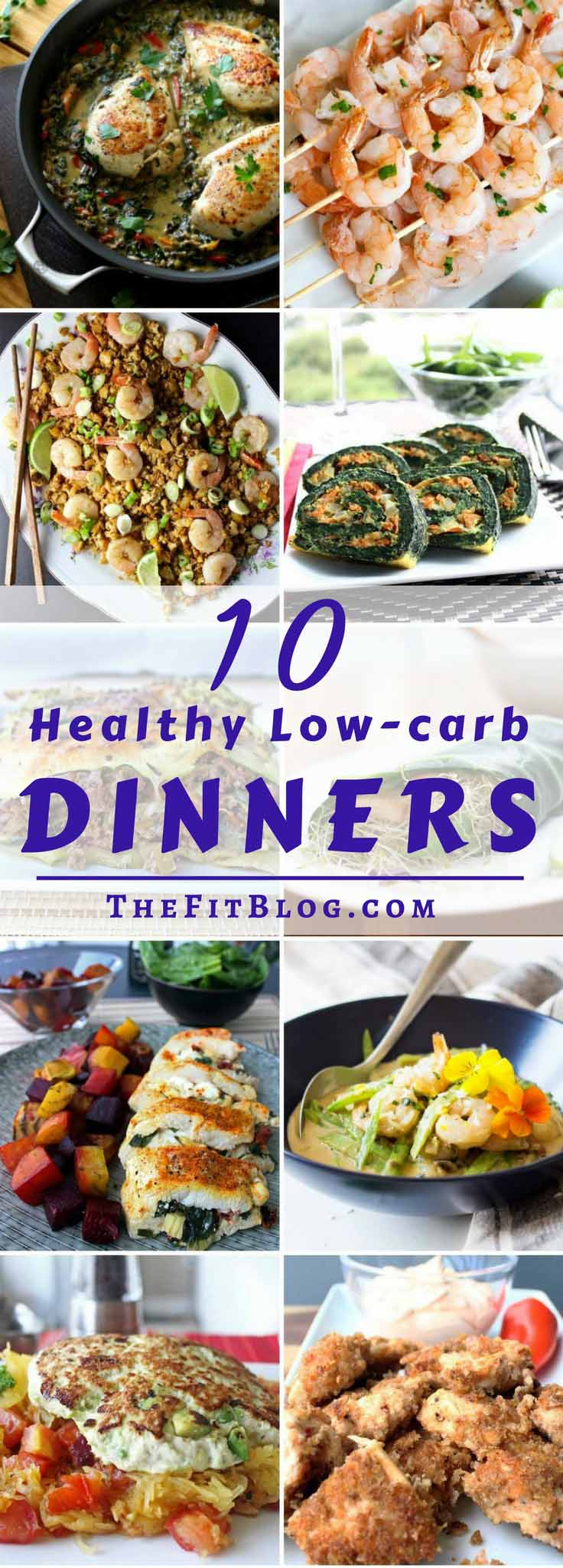 10 Healthy Low-Carb Dinner Recipes – My favorite diabetes friendly and easy dinner recipes. Everything from chicken to beef, fish, and shrimp.