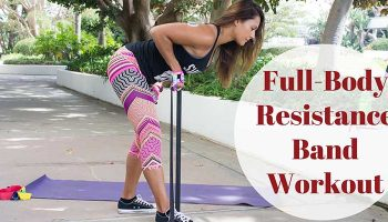 Full-body resistance band workout
