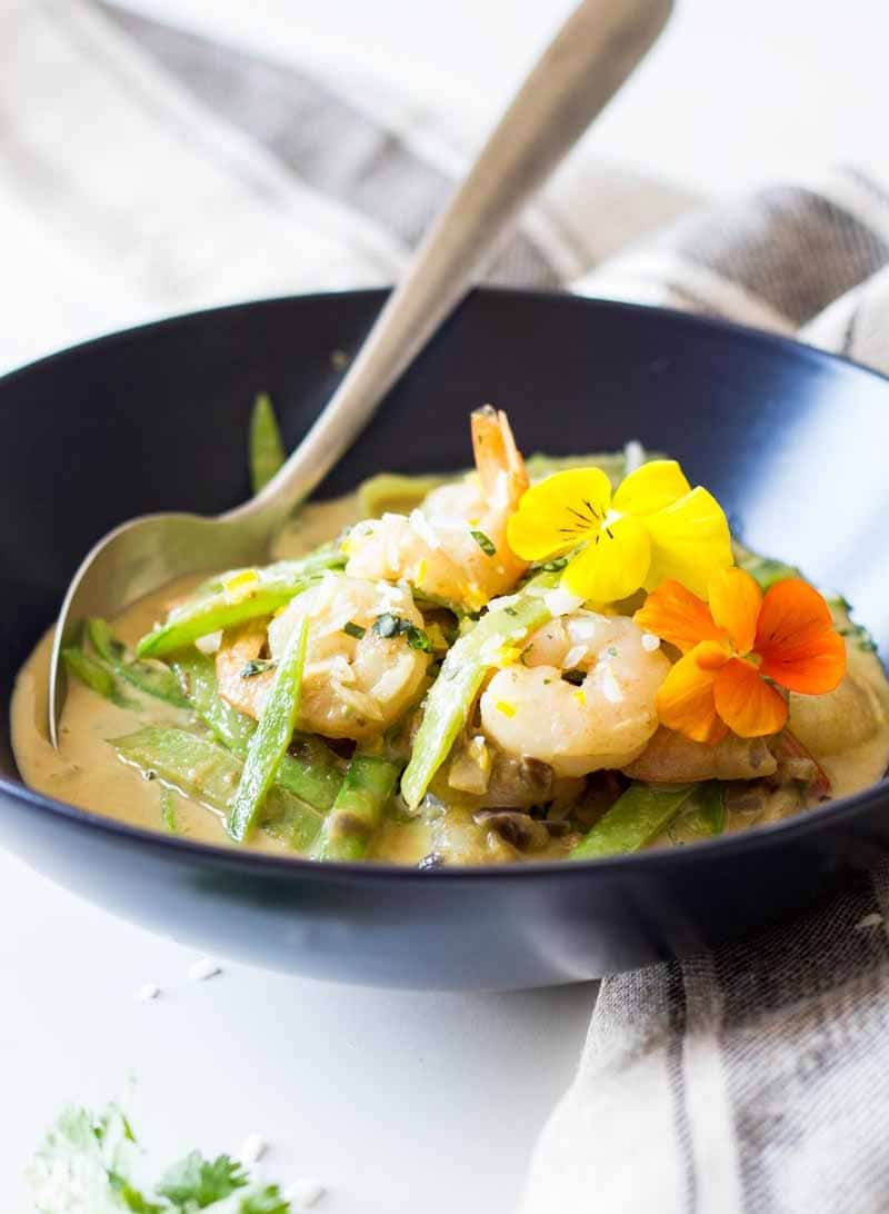Easy Green Thai Curry with Shrimp