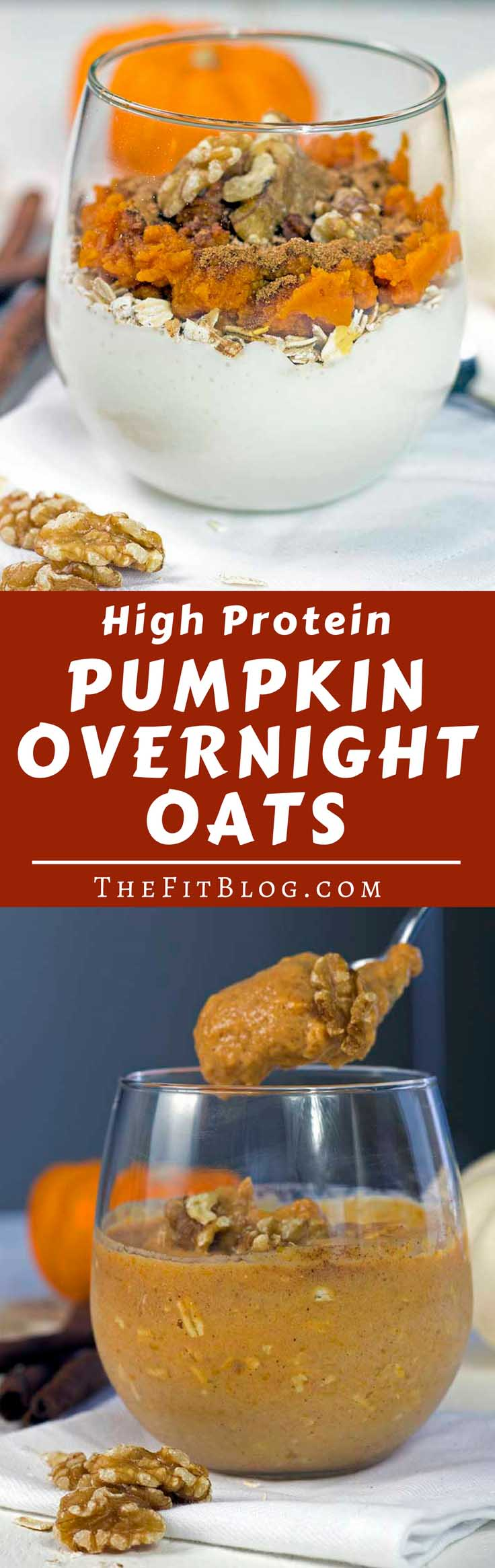 These Pumpkin Overnight Oats are a serving of yummy pumpkin and cinnamon goodness with enough protein to qualify as a healthy fitness breakfast or snack. #healthyeating #healthyrecipes #diabetesdiet #diabetesrecipes #diabeticdiet #diabeticfood #diabeticrecipe #diabeticfriendly #breakfast #oats #pumpkin