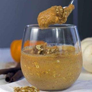 High-protein pumpkin overnight oats