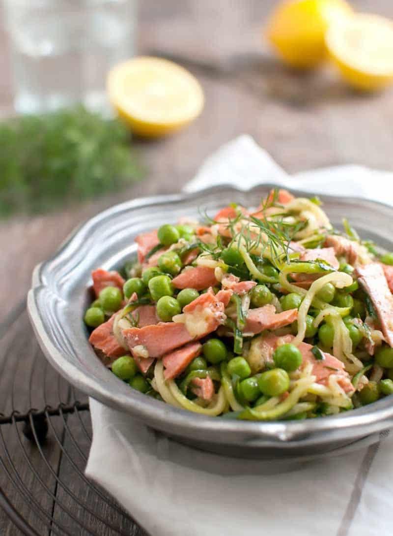 Salmon Dill Zucchini Noodles