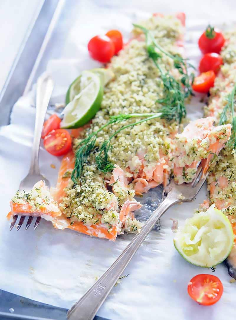 Trout with Lime and Dill Crust
