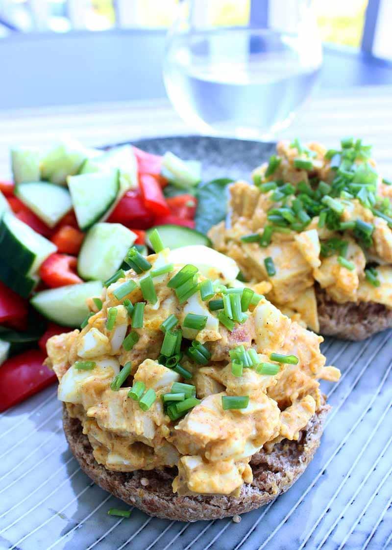 Chicken & Egg Curry Sandwish