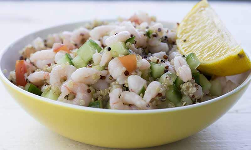Shrimp and quinoa pilaf