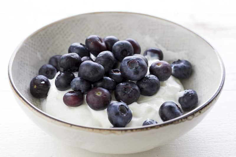 Yogurt & Blueberries