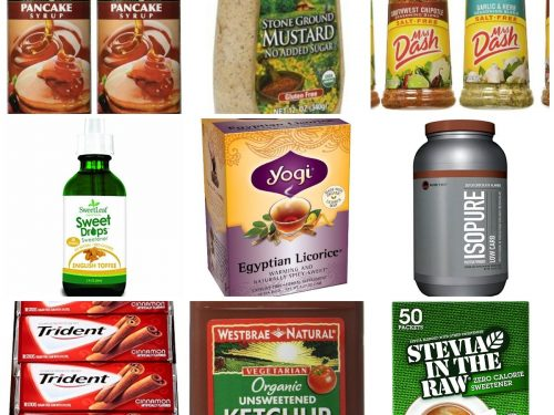 Collage of low-carb products