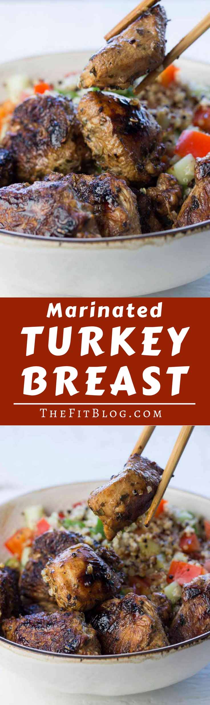 This Marinated Turkey Breast has to be one of my favorite recipes for a quick, healthy meal. It combines maximum flavor with minimum work in the kitchen. #healthyeating #healthyrecipes #diabetesdiet #diabetesrecipes #diabeticdiet #diabeticfood #diabeticrecipe #diabeticfriendly #lowcarb #lowcarbdiet #lowcarbrecipes