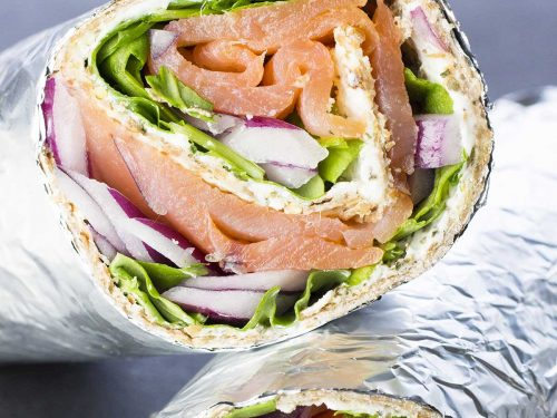 Smoked Salmon Wrap With Cream Cheese