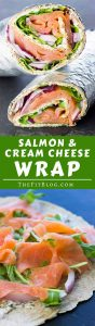 This Smoked Salmon and Cream Cheese Wrap is a delicious and healthy take on an iconic breakfast/brunch recipe. The perfect way to start the day | high protein | low carb | sugar free | gluten free | diabetes friendly |