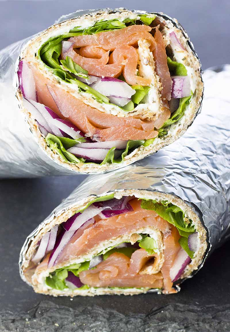 Smoked Salmon & Cream Cheese Wraps