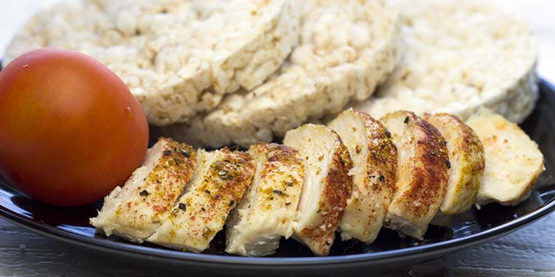 Chicken and rice cakes