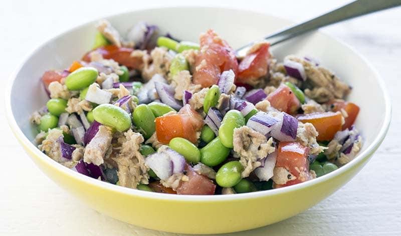 Tuna and edamame salad