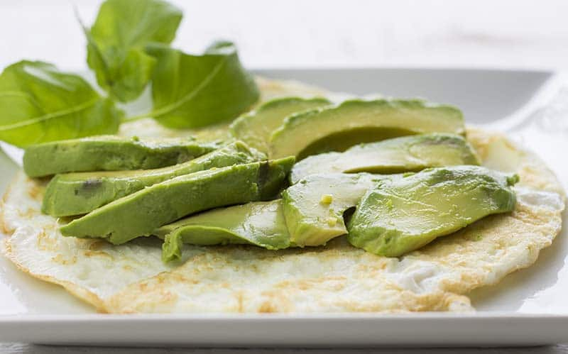 egg white omelette with avocado