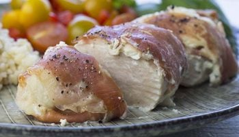 Prosciutto Wrapped Chicken Breast with Cream Cheese