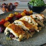 Healthy stuffed chicken breast