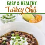 Collage of turkey chili images