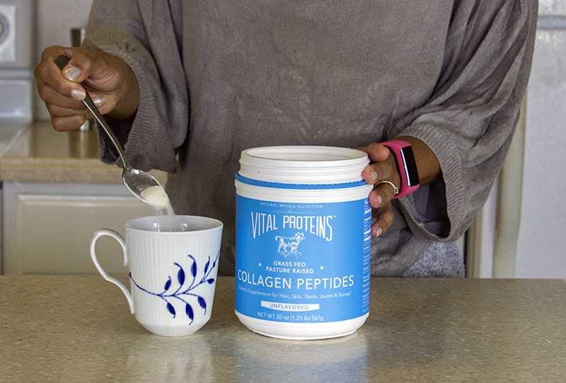 Collagen protein in coffee