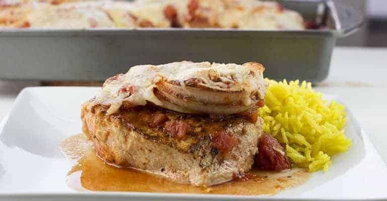 Baked Boneless Pork Chops in Tomato Sauce